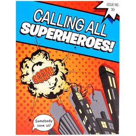 8 invitations super hero