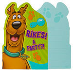 8 cartes d'invitation scoobidoo