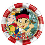 8 assiettes jack pirate 23cm
