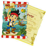 6 invitations jack le pirate