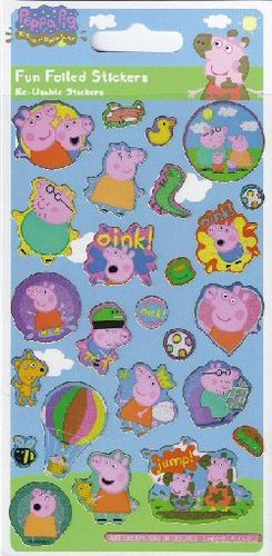 planche de stickers peppa pig
