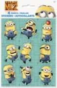 4 planches de stickers minions