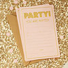 10 cartes d'invitation pastel