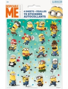 planche de 72 stickers minion