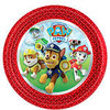 8 assiettes paw patrol ronde
