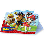 8 cartes d'invitation paw patrol
