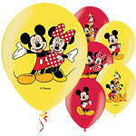 6 ballons mickey minnie