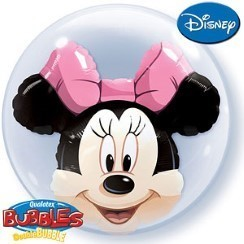 double ballon minnie bubble