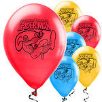 25 ballons spiderman