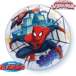ballon spiderman bubble