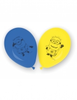 6 ballons minions orange/bleu