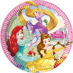 8 assiettes princesses disney 23cm