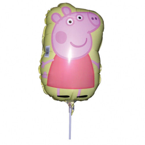 ballon sur stick peppa pig