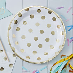 8 assiettes so chic polka