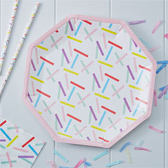8 assiettes so chic confettis