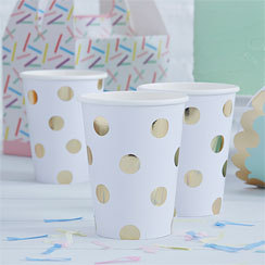 8 gobelets so chic polka