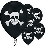 8 ballons latex pirate