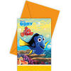 6 cartes d'invitation dory