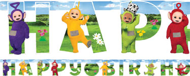 guirlande teletubbies