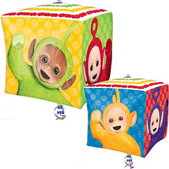 ballon cube teletubbies de 38cm