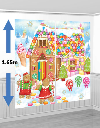 décoration murale candy noël