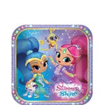 8 assiettes shimmer and shine 19cm
