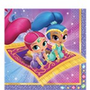 16 serviettes shimmer and shine