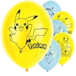 6 ballons pokemon