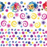 confettis shimmer and shine