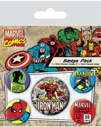 5 badges marvel