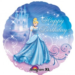 ballon cendrillon happy birthday 45cm
