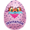 8 invitations hatchimals
