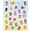 4 planches de stickers hatchimals