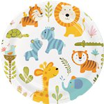 8 assiettes little jungle 23cm
