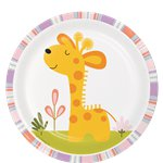 8 assiettes jungle girafe 18cm