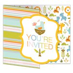 8 invitations little jungle