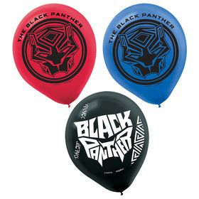 6 ballons black panthere