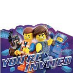 8 invitations LEGO le film