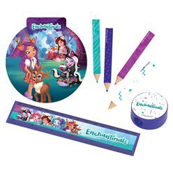 set de papeterie enchantimal 6 enfants