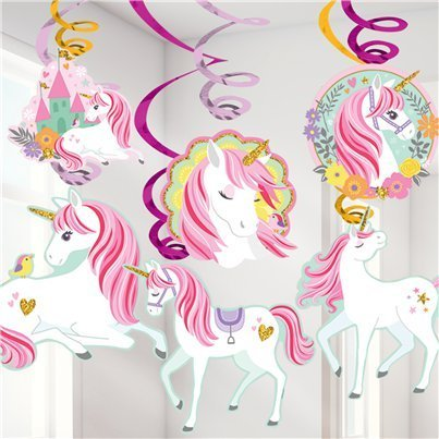 12 suspensions licorne