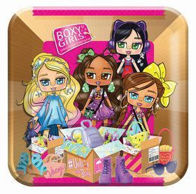 8 assiettes boxy girl