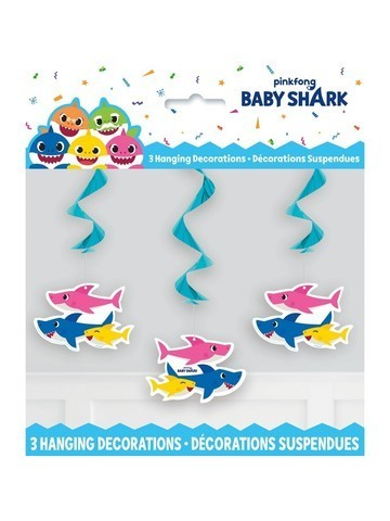 3 suspensions baby shark