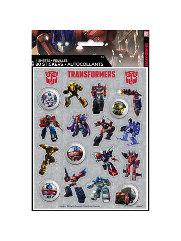 4 planches de stickers transformers